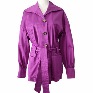 Escada Purple Trench Belted Size  42 / US Large
